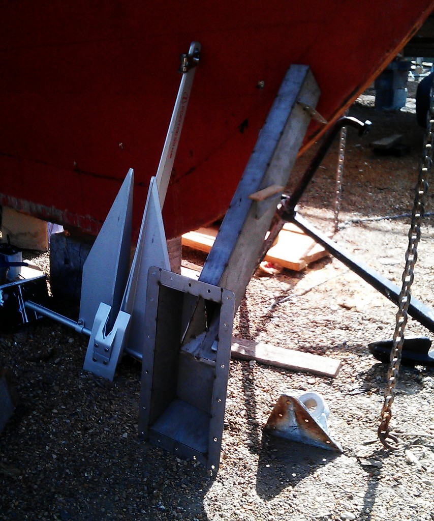 Tacked ready for welding